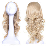 "23"" Curly 3/4 Ladies Half Wig Kanekalon Hair Synthetic Wigs with Comb on a Mesh Head Cap"