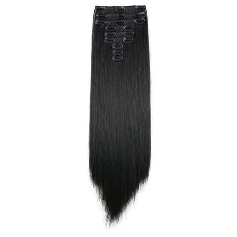 "20"" Straight Full Head 9 Hair-Pieces Kanekalon Futura Heat Resistance Clip in Hair Extension - OneDor"