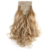 "20"" Curly Full Head 9 Hair-Pieces Kanekalon Futura Heat Resistance Clip in Hair Extension"