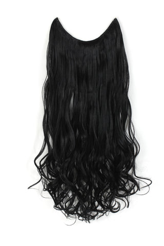 "20"" Curly Synthetic Hair Extensions - Transparent wire / No clips - OneDor"