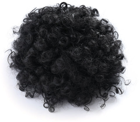 African American Afro Short Kinky Curly Wrap Drawstring Puff Ponytail Extension - OneDor