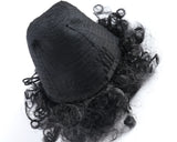 African American Afro Short Kinky Curly Wrap Drawstring Puff Ponytail Extension