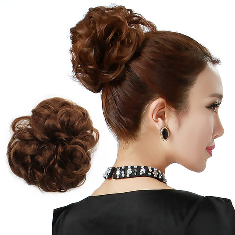 Messy Dish Hair Scrunchie Bun Extension Scrunchie Chignon Tray Hairpiece - OneDor
