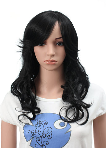 Long Synthetic Stylish Straight Wig Spiky Fluffy Layered Full Head Wigs - OneDor