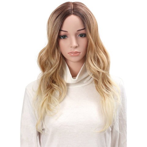 "24"" Full Head Curly Kanekalon Premium Synthetic Lace Hair Wig - OneDor"
