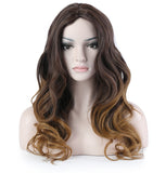 28 Inches Honey Blonde Curly Long Synthetic Hair Wig
