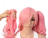 Lolita Multi-Color Long Curly Claw Clip on Ponytail Cosplay Heat Friendly Party Costume Wigs