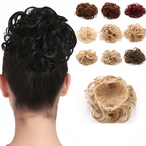 Synthetic Messy Hair Bun Extension Chignon Hair Piece Wig - OneDor