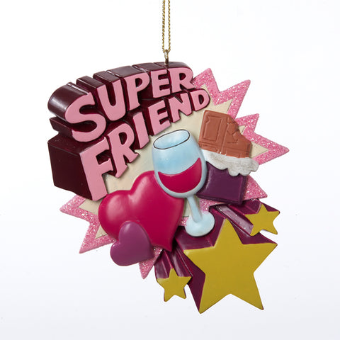 Super Friend Personalized Christmas Ornament