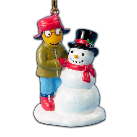 Arthur with Snowman Christmas Ornament (Set of 12)