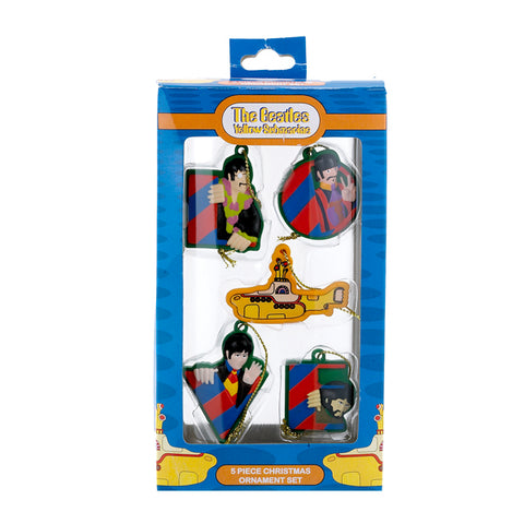 Kurt Adler Beatles Yellow Submarine Mini Ornaments 5PC Set