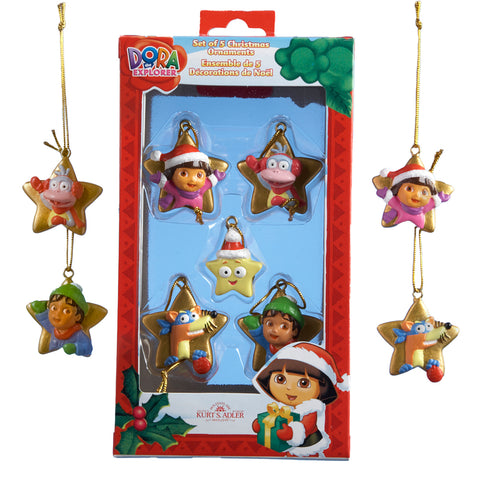 Dora The Explorer  Mini Ornaments, 5-Piece Box Set
