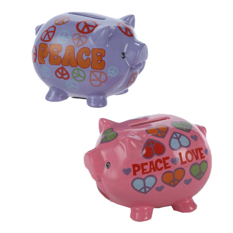 Porcelain Piggy Banks (Set Of 6)