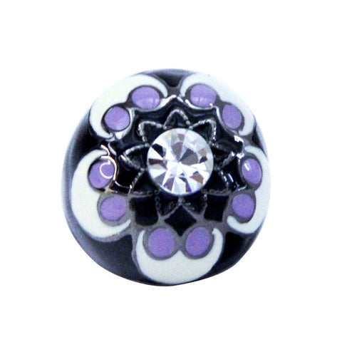 Black and Purple Enamel Ring (Large)