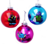 Kurt Adler 60MM So So Happy Glass Ball Ornaments, 3 Assorted