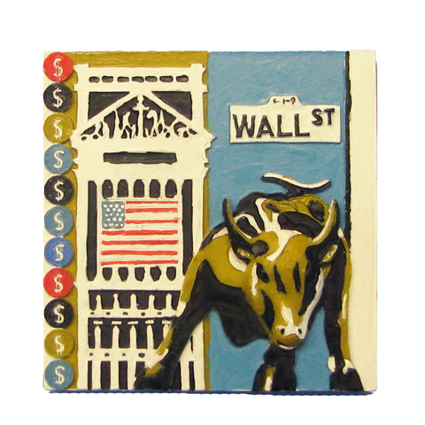 Magnet With Wall Street Design (Set of 12)