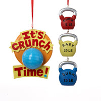 Crunch Time Fitness Christmas Ornaments (Set Of 12)