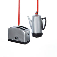 Toaster & Coffee Pot Christmas Ornaments (Set Of 12)