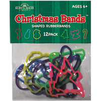 Kurt Adler Rubber Band Christmas Design Bracelets (Set Of 48)
