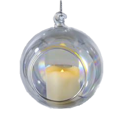 90MM Battery-Operated Lighted LED Candle In Votive Ornament