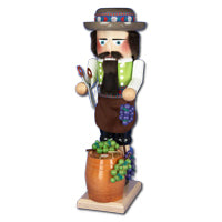 "Kurt Adler 17"" Steinbach Wind-Up Musical Winemaker Nutcracker"