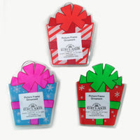 Gift Box Photo Frame with Magnet Christmas Ornaments (Set of 36)