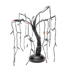 B/O 48/L LED SPIDER BLACK/PURPLE TREE