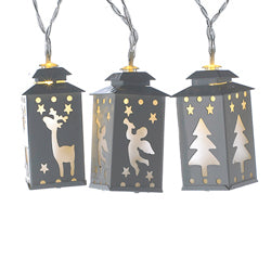 Battery-Operated Miniature Lantern LED Light Set