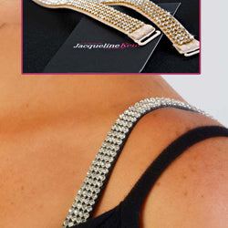 Beige Crystal Bra Straps Set of 2