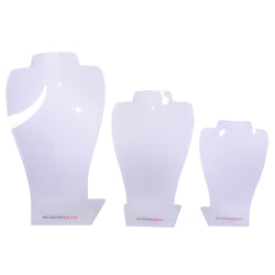 Clear Display Bust Set (3 Pieces)