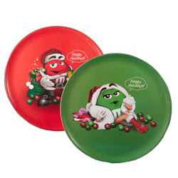 M&M Red And Green Trays 2 Assorted (Set Of 12)