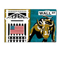 NYC Wall Street Souvenir Magnet (Set Of 12)