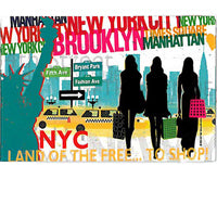 NYC Shopping Souvenir Magnet (Set Of 12)