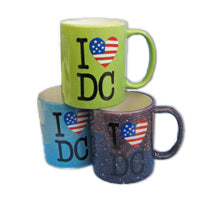 I Love DC Flag Heart Souvenir Mugs (Set Of 6)