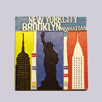 Magnet With 3 NYC Icons Design (Set of 12)