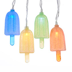 Kurt Adler 10-Light Multi-Color Popsicle LED Light Set