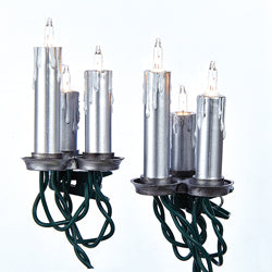 Kurt Adler UL 15-Light Silver Triple Candle Light Set