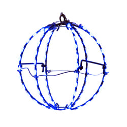 Kurt Adler 6-Inch Blue LED Foldable Metal Sphere