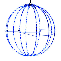 "Kurt Adler 12"" Blue LED Foldable Metal Sphere"