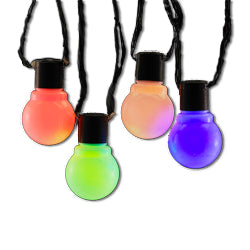 Kurt Adler 10 LED Old Time Party Light Set, Multicolor