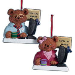 Kurt Adler Top Sales Boy & Girl Christmas Ornaments (Set Of 12)