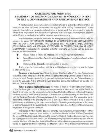 Statement of Mechanics' Lien with Notice of Intent to File ...