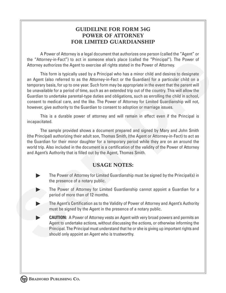Guideline to power of attorney for limited guardianship bradford guideline to power of attorney for limited guardianship solutioingenieria Gallery