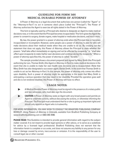 Powers Of Attorney Bradford Publishing - Durable power of attorney template