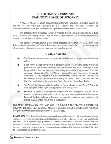 Guideline to Statutory Power of Attorney