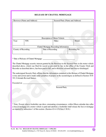 second mortgage forms samples