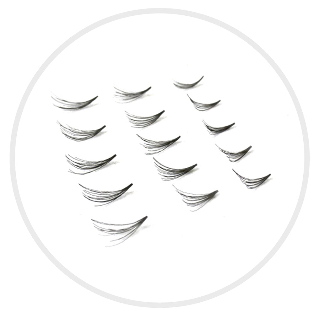 Synthetic Mink Bulk Lash (4-Lash Fan): D Curl