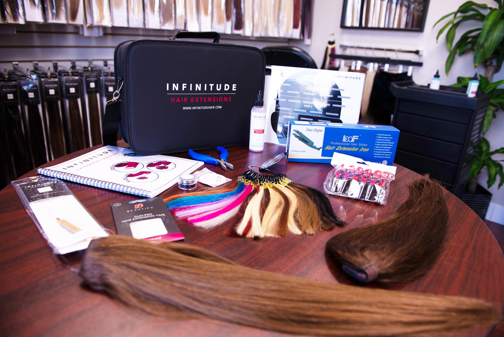 Hair Extension Kit - Tape, Micro Link, Hot Fusion