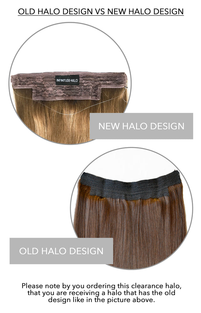 Clearance Item (70% off): #Burgundy Halo Hair Extensions (OLD DESIGN)