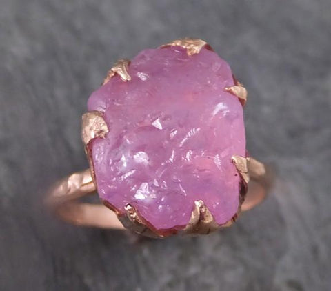 Raw Spinel Rose Gold statement Ring One Of a Kind Pink Lavender Gemstone Ring stone Ring 0105 - Gemstone ring by Angeline